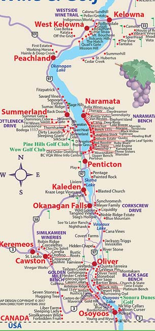 Okanagan Winery Map